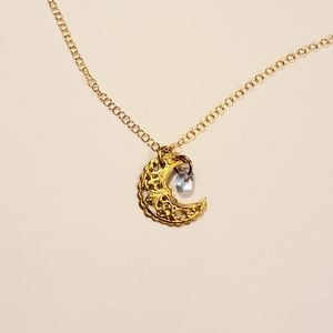 Jewelry - Gold mini crescent moon necklace 🌙